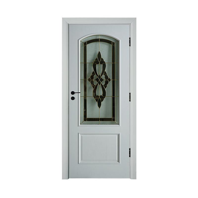 Simple style Cherry wood exterior  glass door WM0005
