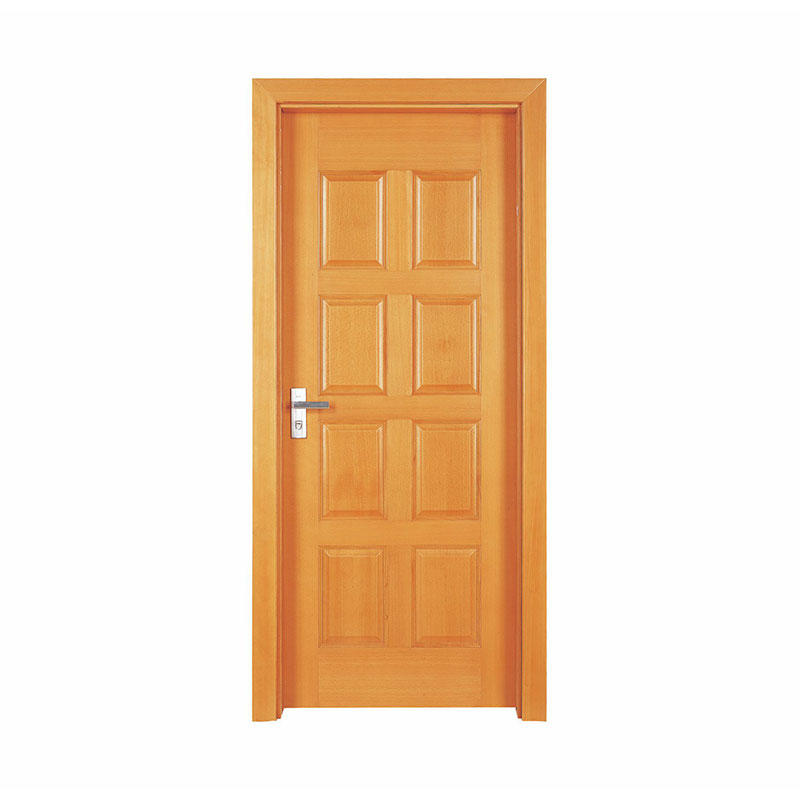 Simple style Okoume residential wooden door P004
