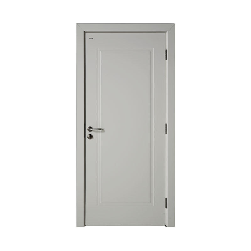 Modern style wood Smooth house door WM0012