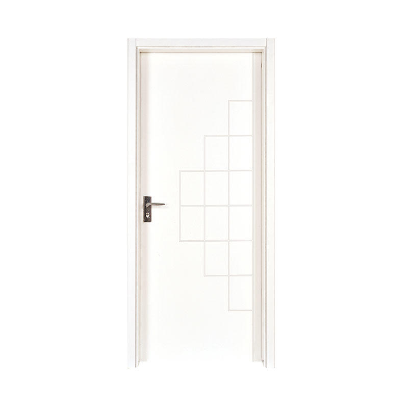 Smooth house modern design wood door PP002