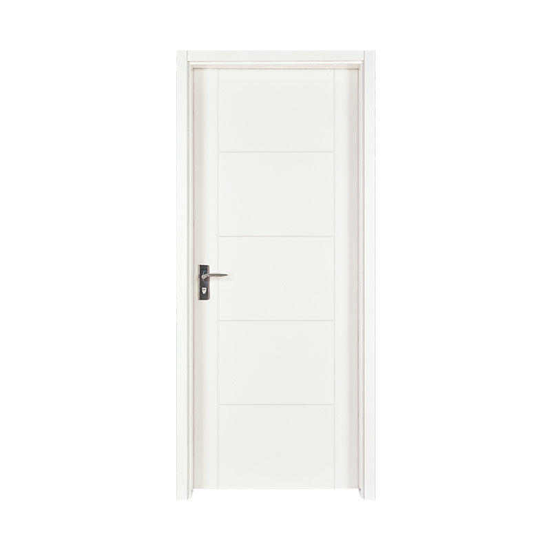 Smooth modern design wood apartment door PP003