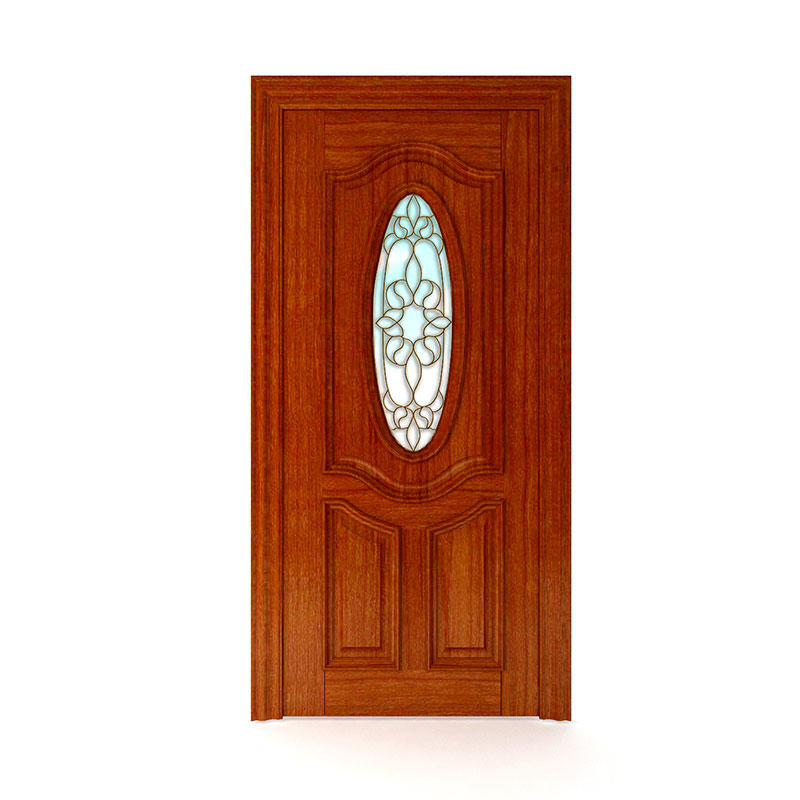 Latest design Golden Teak exterior glass door WM0020