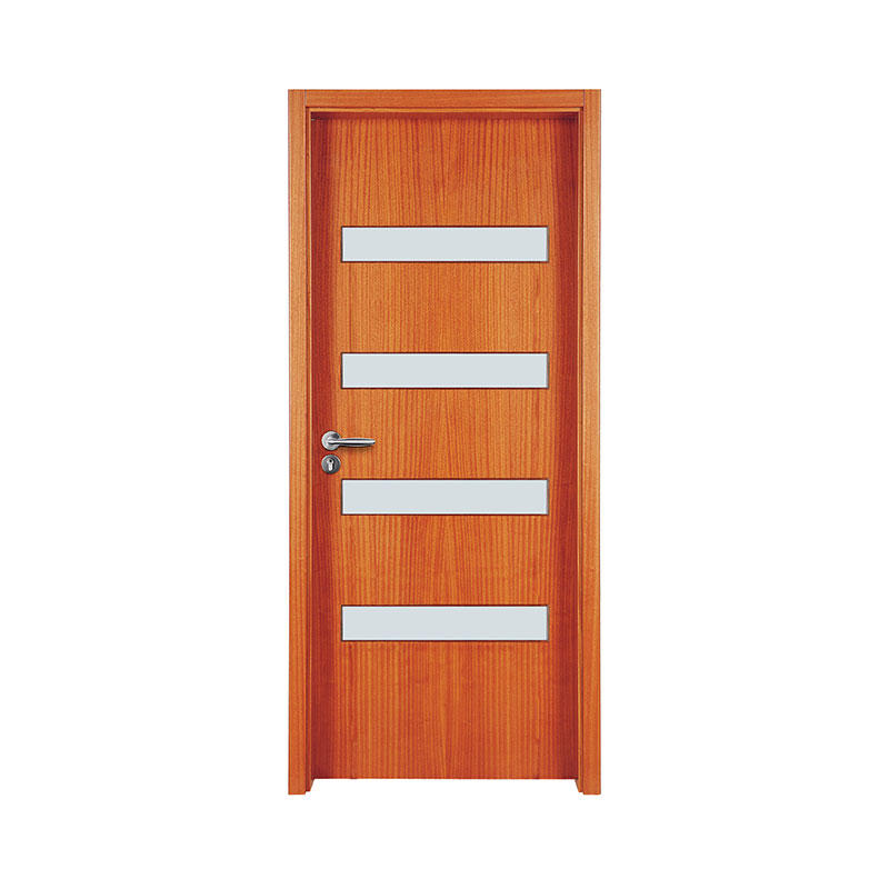Simple design Golden Teak glass exterior door WM0024