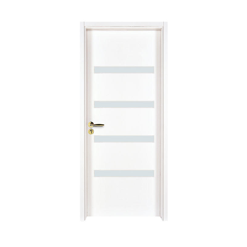 Simple style white  glass exterior door WM0026