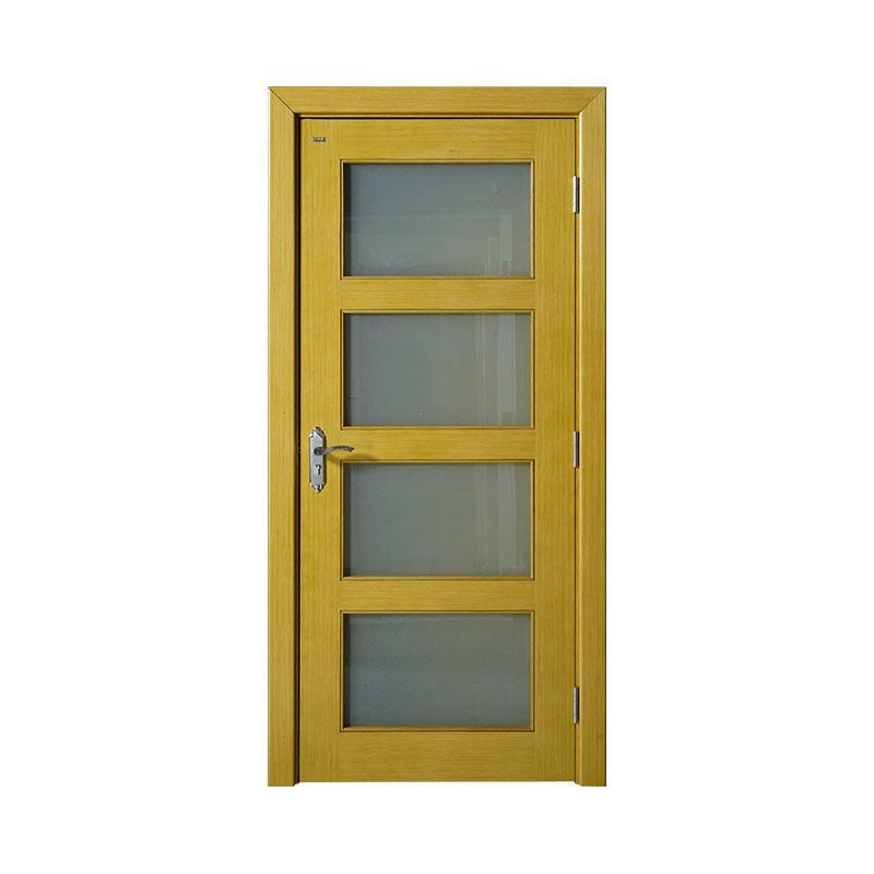 Golden Teak house wood simple style door WM0009