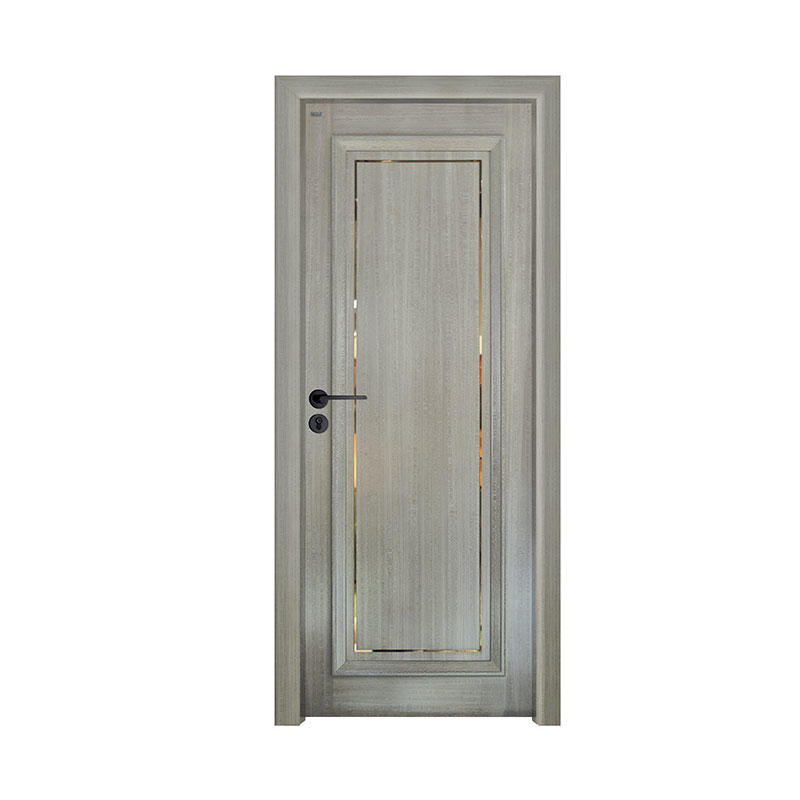 Simple design Silver Pear house wood door GK020