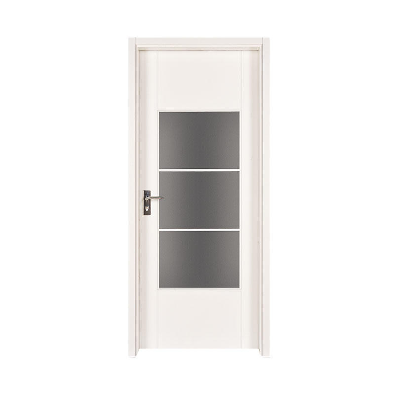 Smooth simple style wooden apartment door PP003-3