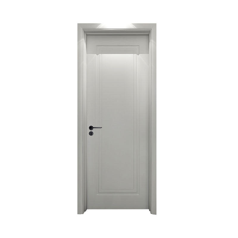 Residential Smooth simple design wood door PP051