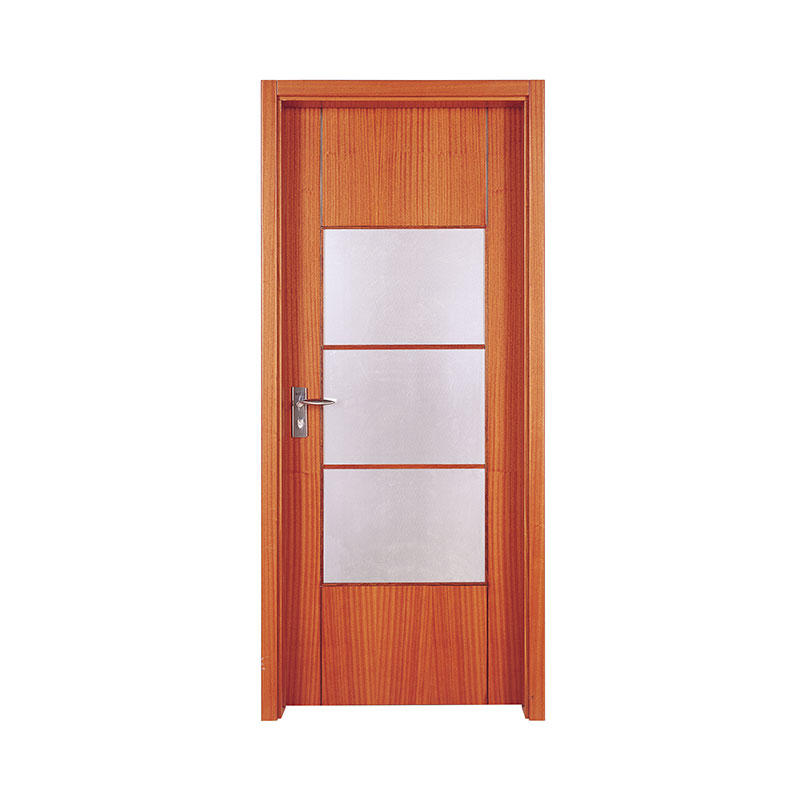 Simple design Cherry interior wood door PP003-3