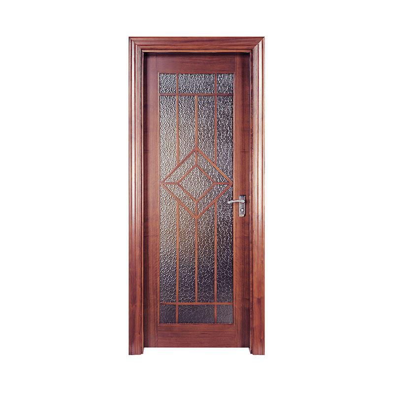 Golden Teak latest design residential wood door PP001