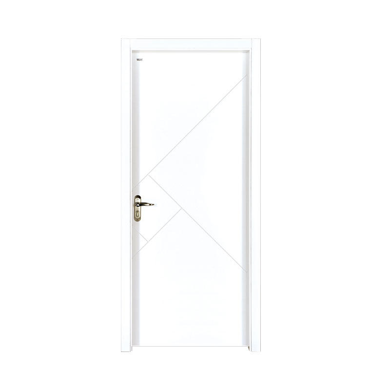 Rresidential simple style Smooth wood door PP028