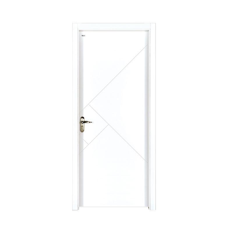 Rresidential simple style Smooth wood door PP028