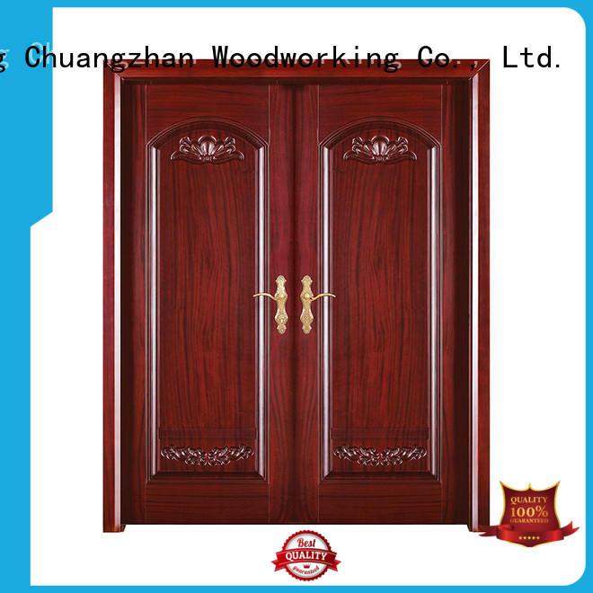 Runcheng Chuangzhan Custom external wood doors manufacturers for homes