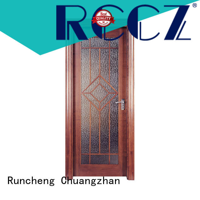 Runcheng Chuangzhan pure natural interior wooden doors factory for indoor