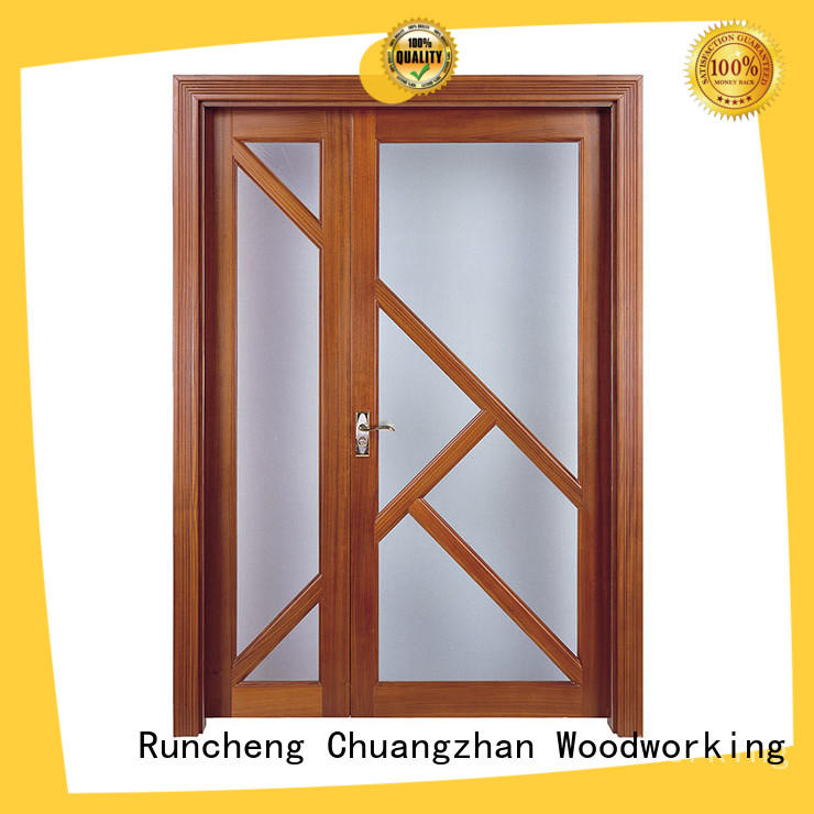 Runcheng Chuangzhan simple wooden door suppliers for villas