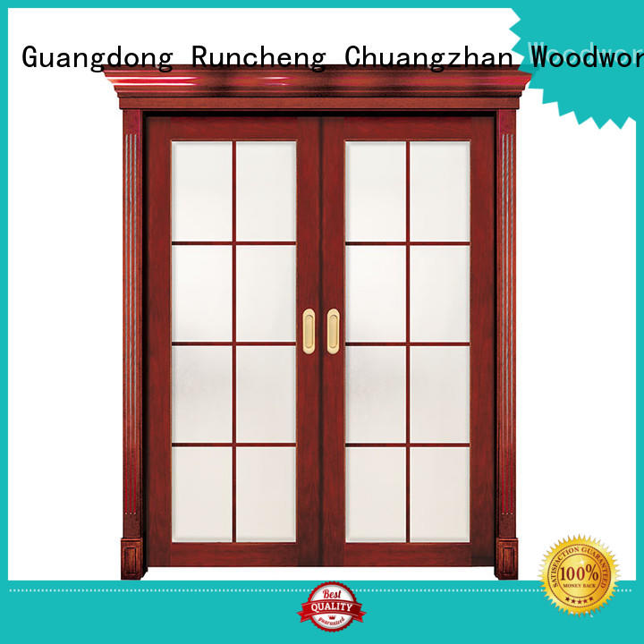 durable interior wood doors with glass Suppliers for hotels