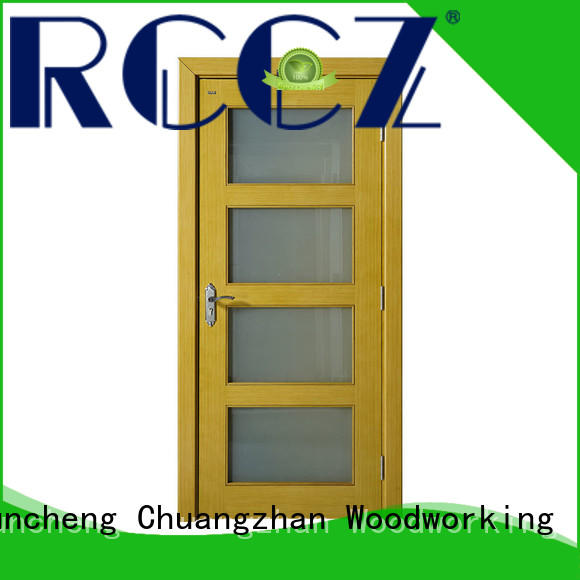 Runcheng Chuangzhan eco-friendly custom solid wood interior doors Supply for hotels