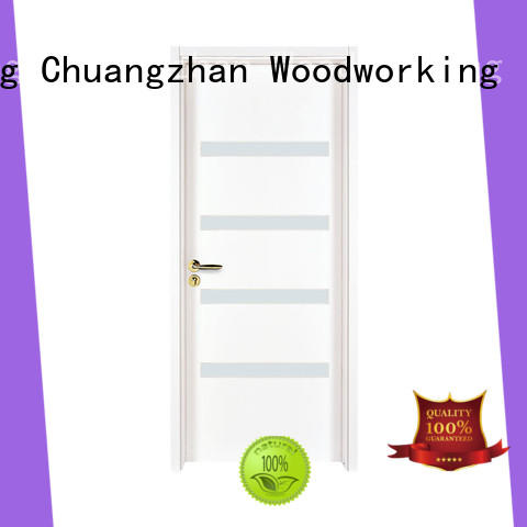 Runcheng Chuangzhan High-quality white glass exterior door factory for indoor