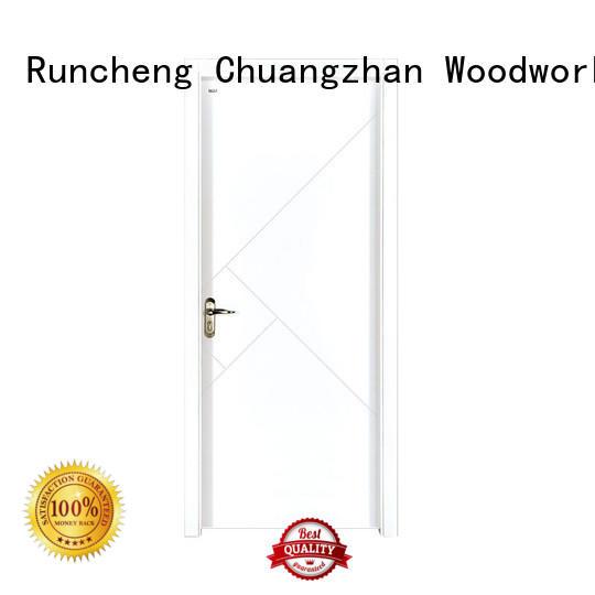 Runcheng Chuangzhan white wooden internal doors factory for homes