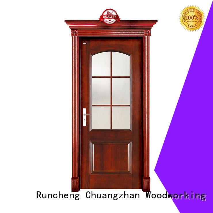 Runcheng Chuangzhan white glass exterior door supply for homes