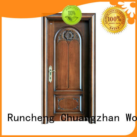 Runcheng Chuangzhan exquisite exterior solid wood doors Suppliers for homes