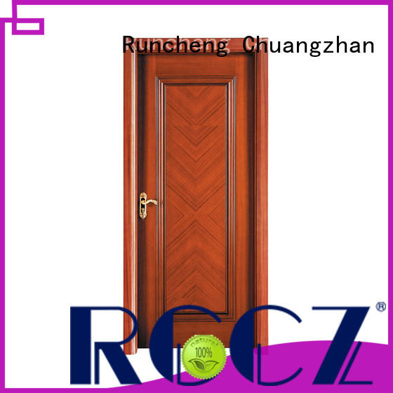 Runcheng Chuangzhan solid hardwood doors exterior Suppliers for offices