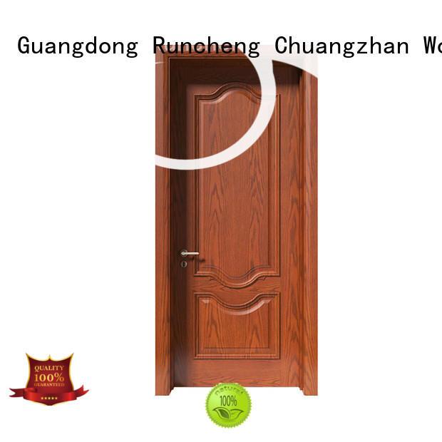 Runcheng Chuangzhan pure natural indoor solid wood doors factory for indoor