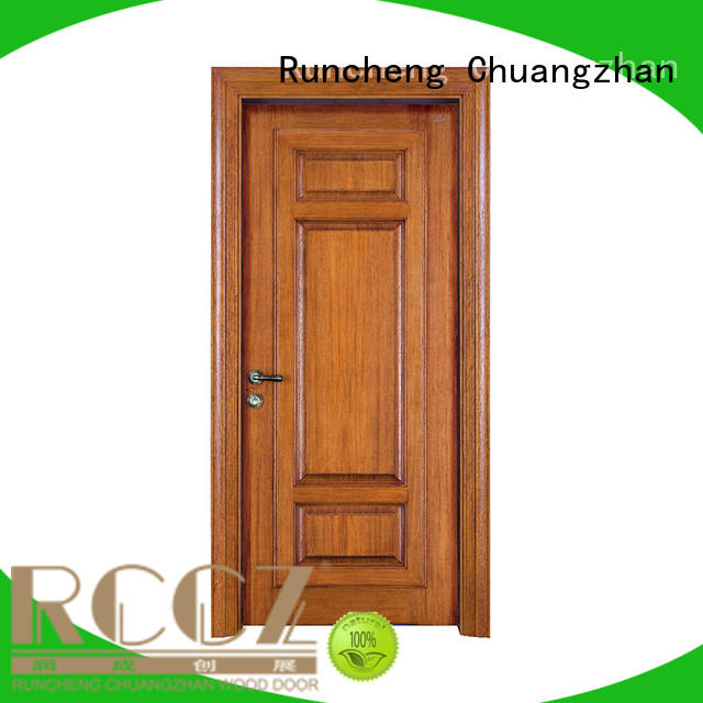 Runcheng Chuangzhan reliable exterior wood doors manufacturers for hotels