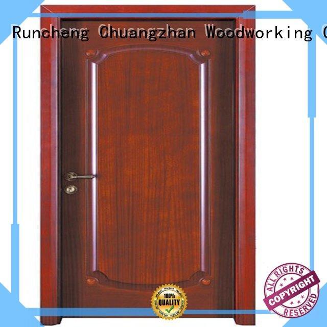 door wooden interior wooden door with solid wood durable Runcheng Woodworking Brand