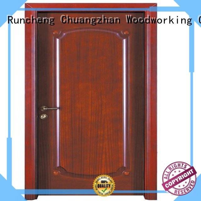 door wooden interior wooden door with solid wood durable Runcheng Woodworking Brand