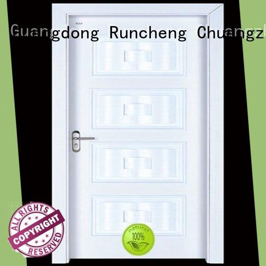 Runcheng Chuangzhan safe interior wooden door with solid wood on sale for homes