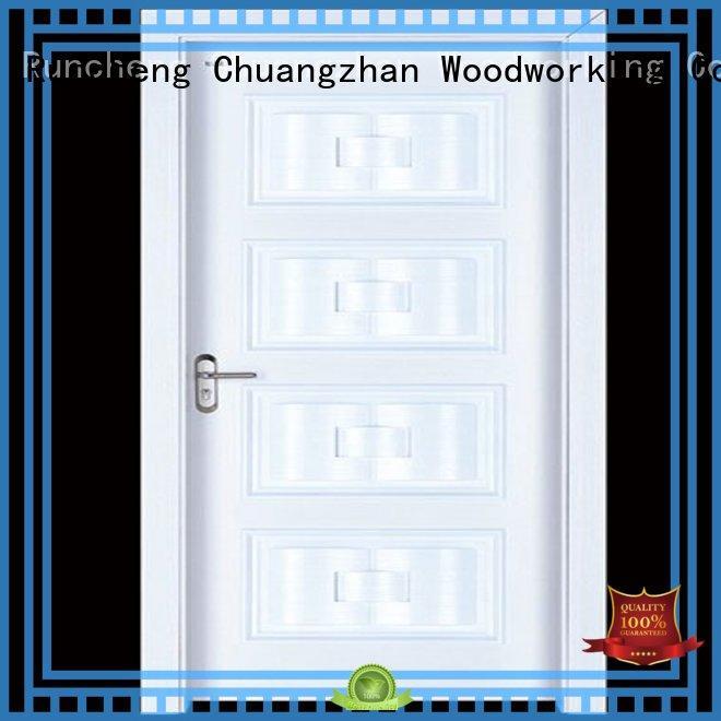Runcheng Woodworking Brand durable interior wooden door with solid wood door factory
