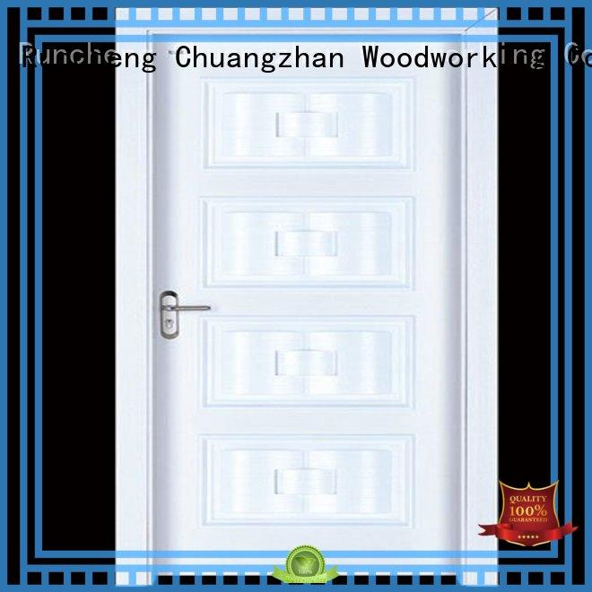 Runcheng Woodworking Brand durable interior wooden door with solid wood door factory