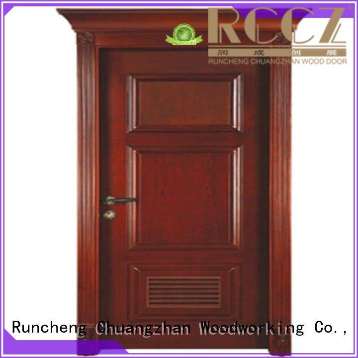 Runcheng Woodworking Brand bedroom kitchen solid wood compound door solid quality factory