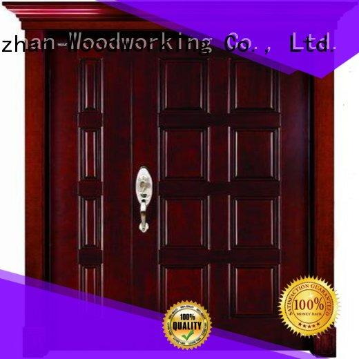 attractive solid wood double entry doors durability for business for villas