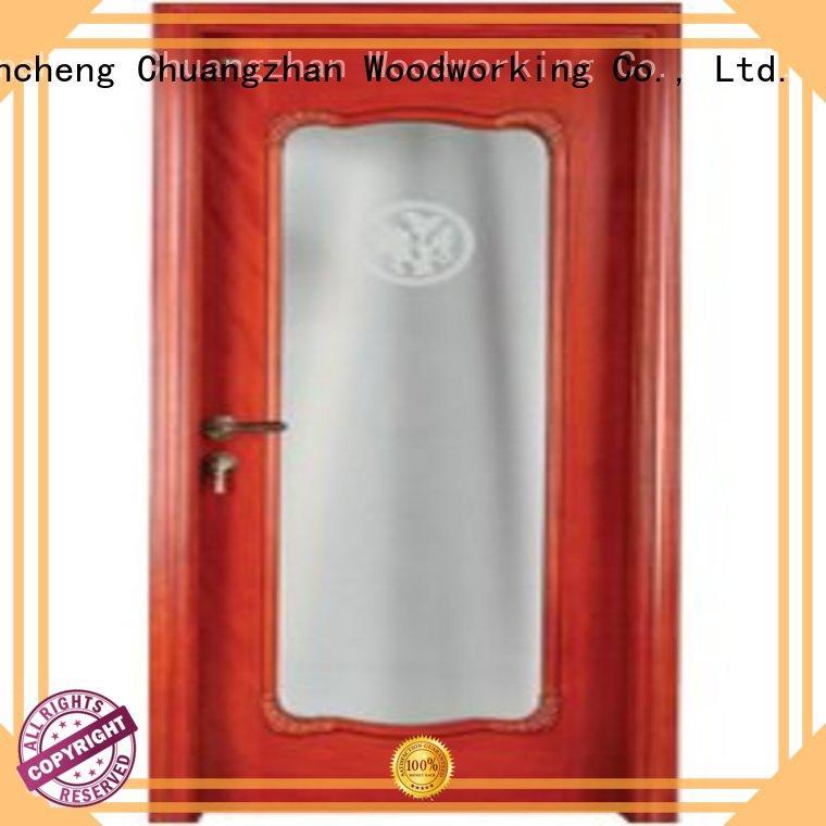 Hot wooden double glazed doors pure Runcheng Woodworking Brand