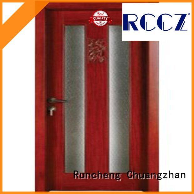 Runcheng Chuangzhan eco-friendly hardwood glazed internal doors supplier for offices