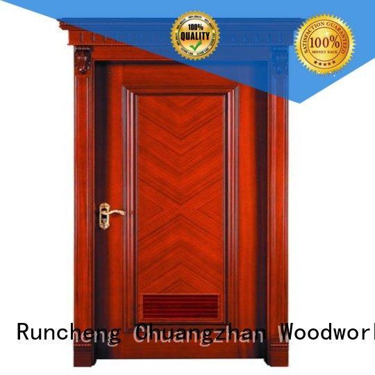 door bedroom kitchen bathroom internal veneer doors Runcheng Woodworking Brand