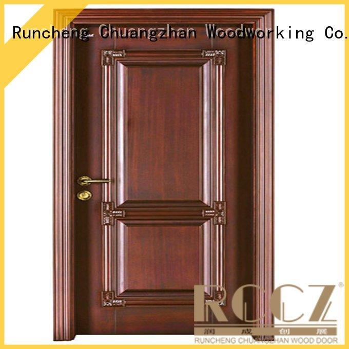 Runcheng Woodworking cheap wooden front doors pp035 s020 pp026 sf005