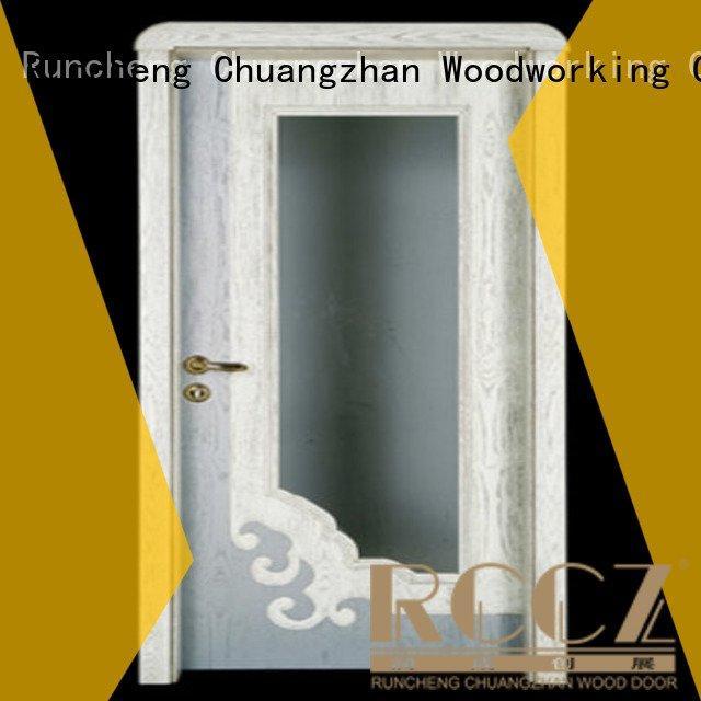 door bedroom kitchen double Runcheng Woodworking wooden door