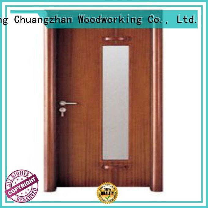 Runcheng Woodworking Brand durable door glazed hardwood glazed internal doors glazed