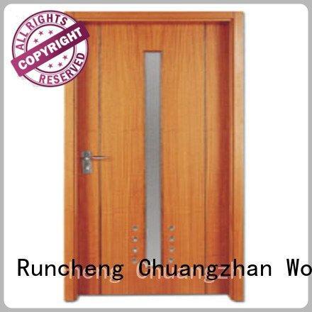 Quality flush mdf interior wooden door Runcheng Woodworking Brand pp0043 wooden flush door