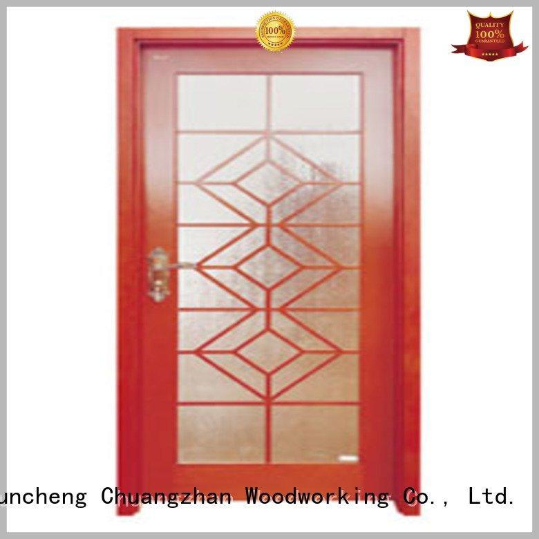 glazed door wooden double glazed doors Runcheng Woodworking Brand
