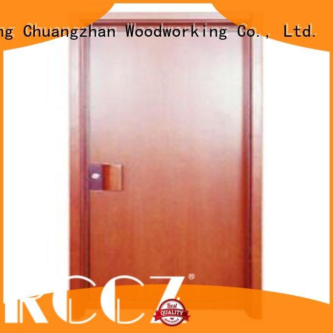 Runcheng Chuangzhan popular wooden flush door wholesale for villas