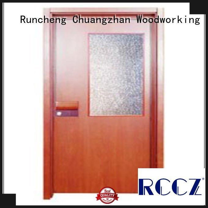 Runcheng Chuangzhan modern wooden flush door price supplier for offices
