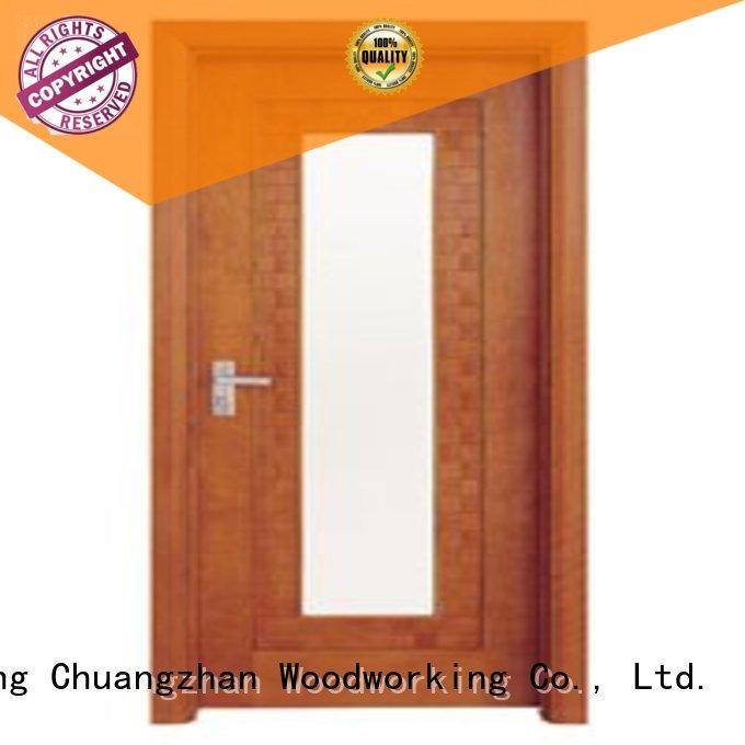Runcheng Woodworking Brand door durable hardwood glazed internal doors glazed
