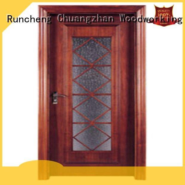 x0283 x0143 door wooden double glazed doors Runcheng Woodworking