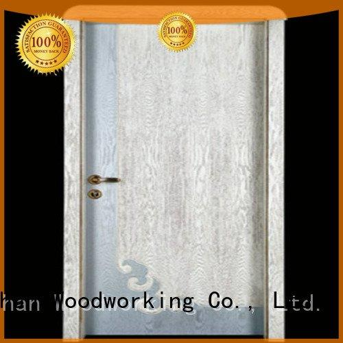 Wholesale double wooden door Runcheng Woodworking Brand