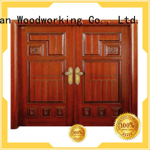 double white double doors door door Runcheng Woodworking Brand