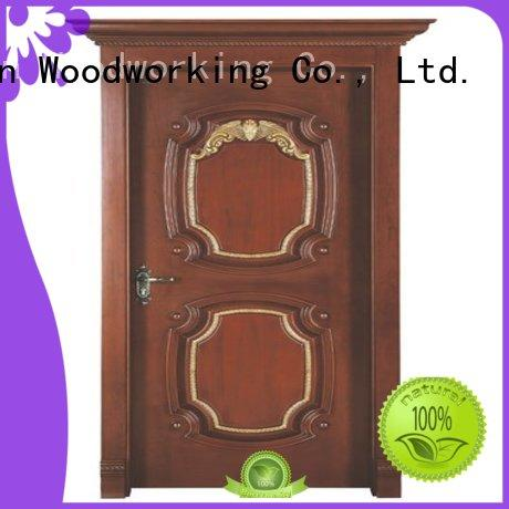 wooden door durable durable interior wooden door with solid wood Runcheng Woodworking